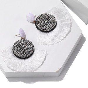 3/$20 Retro Diamond Fan-shaped Tassel Earrings NEW
